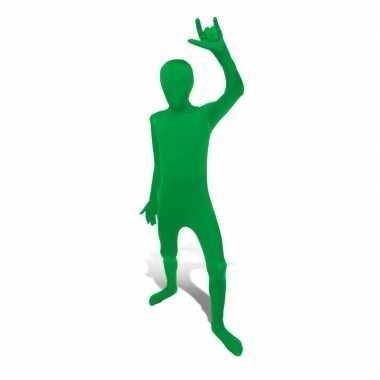 Kinder second skin groen suit