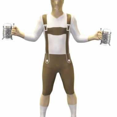 Lederhosen second skin volwassenen suit