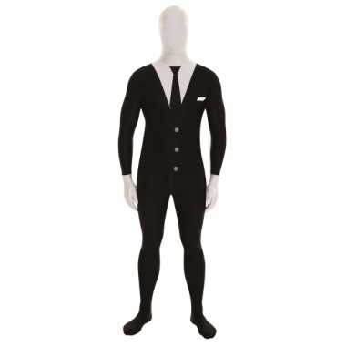 Second skin businessman zwart suit