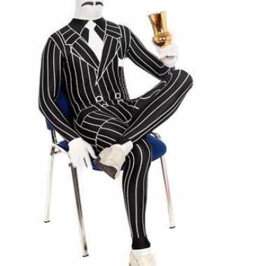 Second skin krijtstreep heren suit