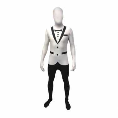 Tuxedo second skin wit suit